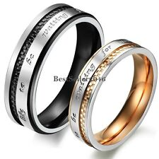 Stainless Steel Wedding Band Couples Waiting for You Promise Engagement Ring