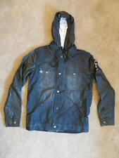 NEW NWT Forum Mens One Percent Hooded Jacket Coat Denim - Sz S M