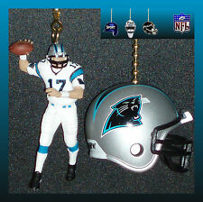 NFL CAROLINA PANTHERS QUARTERBACK FIGURE & CHOICE OF HELMET CEILING FAN PULLS