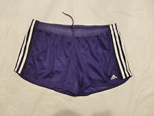 NWT WOMENS ADIDAS PERFORMANCE CLIMALITE ED MESH SHORTS $22 PURPLE/WHITE Z31034