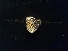 NEW STERLING SILVER RING WITH GOLD PLATING 925 SIZES 6 or 7