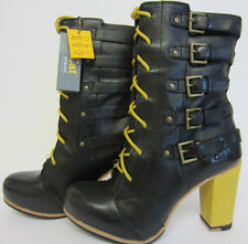 "Cat Women Boot Black Lace-Up 10.5"" P305848 Xtreme Size 7-9 (LR)"