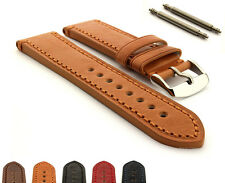 Mens Genuine Leather Watch Strap Band Grand Catalonia Stainless Steel Buckle
