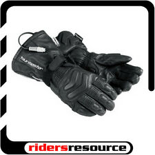 Tourmaster Synergy 2.0 Heated Leather Motorcycle Gloves Black (Choose Size)