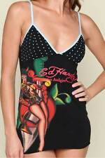 Ed Hardy Womens Monica Camisole Devil Lady S M L Black NEW
