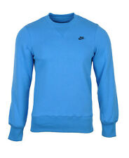 Men's New Nike Sweater, Crew Sweatshirt, Jumper, Pullover - Blue - RRP £45
