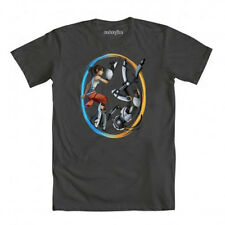 Portal 2 Double Identity Gray T-Shirt Anime Licensed NEW