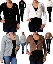 LOT NEW FASHION WOMEN Button Slim Fit JACKET CASUAL CAREER OFFICE Blazer S M L