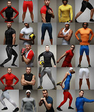 Mens Compression Base Layer Tight Top T-Shirts Sports Tracksuit Bottoms Trousers