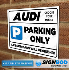 Parking Sign Gift for Audi Owner - Birthday Present for Men or Women