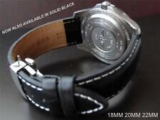 QUALITY THICK REPLACEMENT DEPLOYMENT LEATHER STRAP TO FIT YOUR TAG HEUER  WATCH
