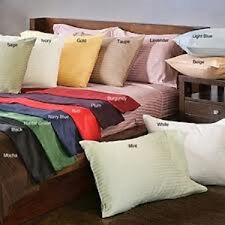 Sale 1000TC Soft 2PC Pillow case/Sham Striped 100%Egypt Cotton Choose Size&Color