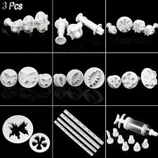 Fondant Cake Cookie Bread Decorating Sugarcraft Plunger Cutters Mould Mold Tools