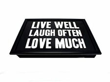 Assorted Designs Laptrays with cushioned back, Choice of 2 phrases