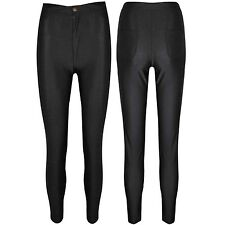 Womens Disco American Apparel Style Ladies High Waisted Leggings Pants Trousers