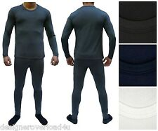 Men's Fleece Thermal Underwear Set Brushed Microfiber Lining Wicking Long Johns