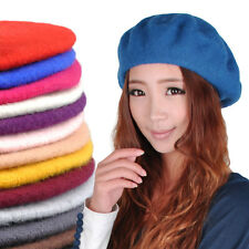 Vintage Men Women's Warm 100% Wool French Berets Beret Tam Beanie Cap Slouch Hat