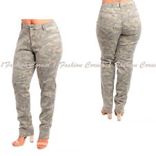 Plus Size -14 16 18 20 22- GRAY Stretchy Camo,Camouflage,Army Pants