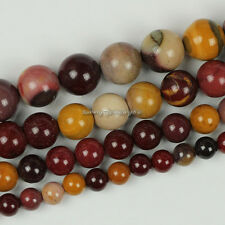 "Natural Mookaite Jasper Gemstone Round Loose Beads 15.5"" 6mm 8mm 10mm 12mm SL41"