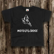 KIDS Motocross t shirt Motor sport x bike motorbike top stunt children's childs