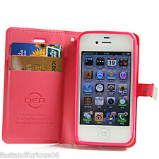 PU + TPU Case Protection With Credit Card Holder for Apple iPhone 4/4S 4 Colors