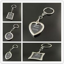 1PC Multi Shape Fashion Sytle Silver Custom Photo Frame Key Chain Keyrings Gifts