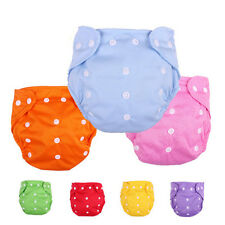 5pcs/Lot Washable Adjustable Reusable Safe Baby Kids Cloth Diaper Nappy Nappies