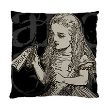 Alice In Wonderland Grunge Alice with Drink Me Bottle Two Sided Cushion Cover