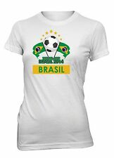 Junior's Brasil World Cup 2014 Brazil Soccer T-Shirt Futebol Football Tee