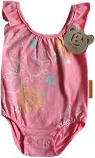 Baby Girls Pink Cotton Swimming Costume With Poppers Age N/B 3 Months 6 Months