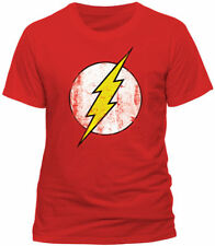 Official DC Comics The Flash T Shirt Distressed Print Sheldon Big Bang Theory