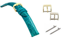 Genuine Crocodile Skin Turquoise Ladies Fast Change Watch Band, All Sizes