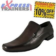 Base London Mens Chip Leather Loafer Formal Casual Dress Shoes Brown *AUTHENTIC*