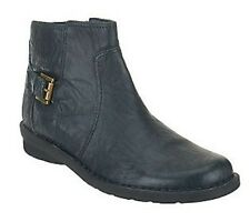 Clarks Bendables Nikki Star Leather Side Zip Ankle Boots PICK SIZE COLOR