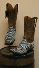 MENS BLACK JACK WESTERN BOOTS-EXOTICS! RATTLESNAKE!! STYLE 618-NWT-MADE IN USA!