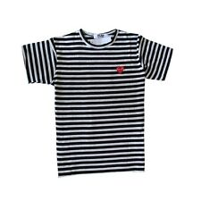 COMME Des GARCONS CDG PLAY cotton striped short-sleeve men and women's  t-shirt