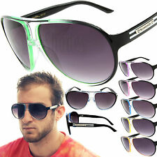 Mens / Womens Aviator Biohazard Sunglasses Shield Goggle Designer Glasses Shades