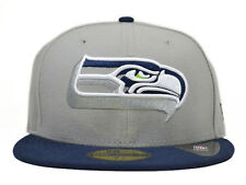 Seattle Seahawks NEON LOGO POP 59Fifty NFL Hat by New Era=Grey/Navy