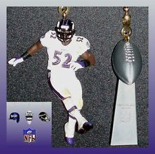 NFL BALTIMORE RAVENS RAY LEWIS FIGURE & LOMBARDI TROPHY CEILING FAN PULLS