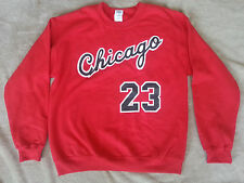 Chicago Bulls Michael Jordan Rookie year vtg style Jersey Sweatshirt / T-shirt.