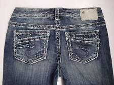 New Arrived Silver Jeans AIKO Boot Cut Low-Rise Distressed 140213A