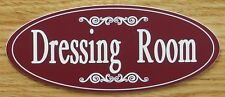 "Engraved ""Dressing Room"" Plastic Dressing Room Door / Wall Sign - FREE SHIPPING"