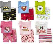Lots types Baby&Toddler Kid's Boys Girls Pajamas T-shirt +short pants Size 2T-7T