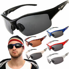 Polarized X-Loop Wrap Sunglasses Mens Sports Cycling Fishing Golfing Glasses
