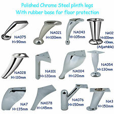 Chrome Steel Feet / Plinth Legs sofa beds cupboard cabinets Kitchen furniture