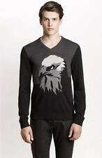 New Armani Exchange AX Mens Slim/Muscle Fit Graphic Eagle V Neck Sweater