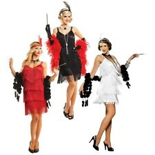 Flapper Costume Adult Roaring 20s Flapper Girl Halloween Fancy Dress