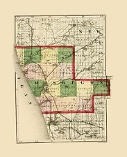 Historic County - MUSKEGON COUNTY MICHIGAN - TACKABURY 1873
