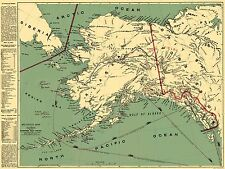 Old Mining Map - Klondike Gold Fields Alaska - Milroy 1897 - 23 x 30.52