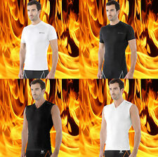[Tesla] Mens Sports Compression HOTGEAR Thermal Short & Sleeveless Collection